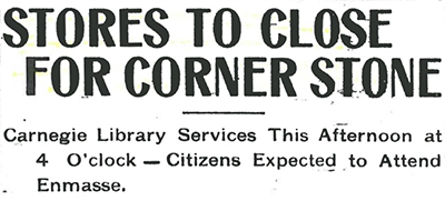 "Headline that reads ""Stores to Close for Corner Store"""