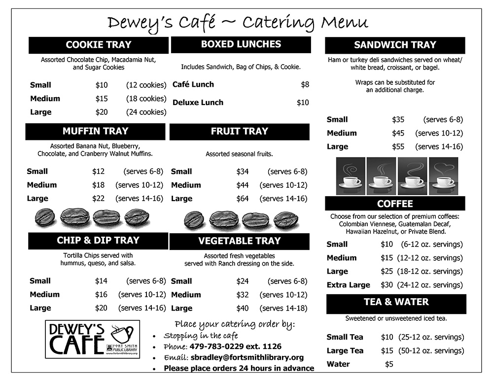 Dewey's Catering Menu