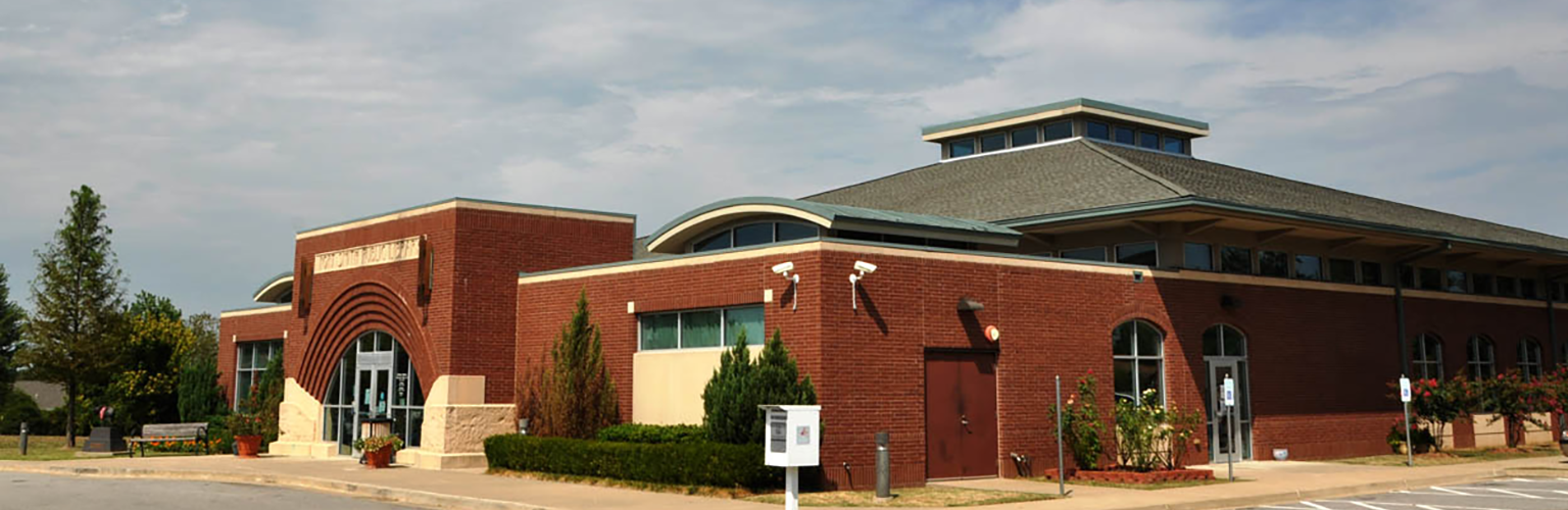 Exterior shot of Miller Branch of Fort Smith Public Library