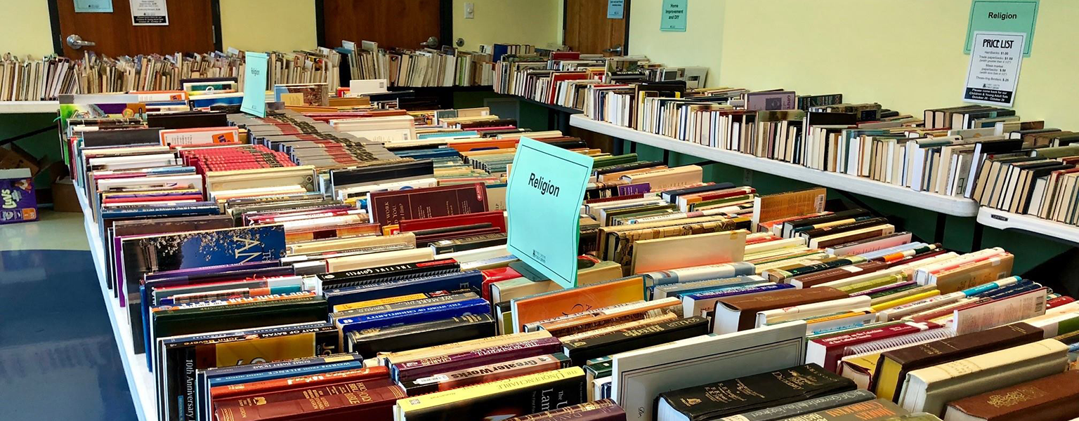 Non-fiction section of the book sale