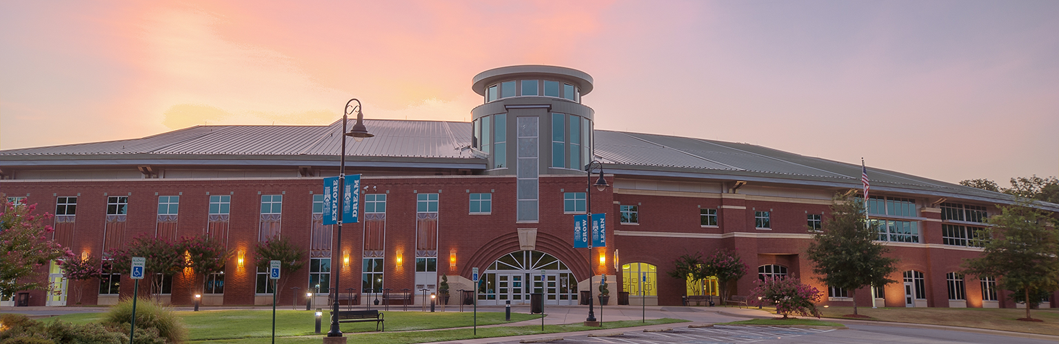 Main Library exterior during dusk