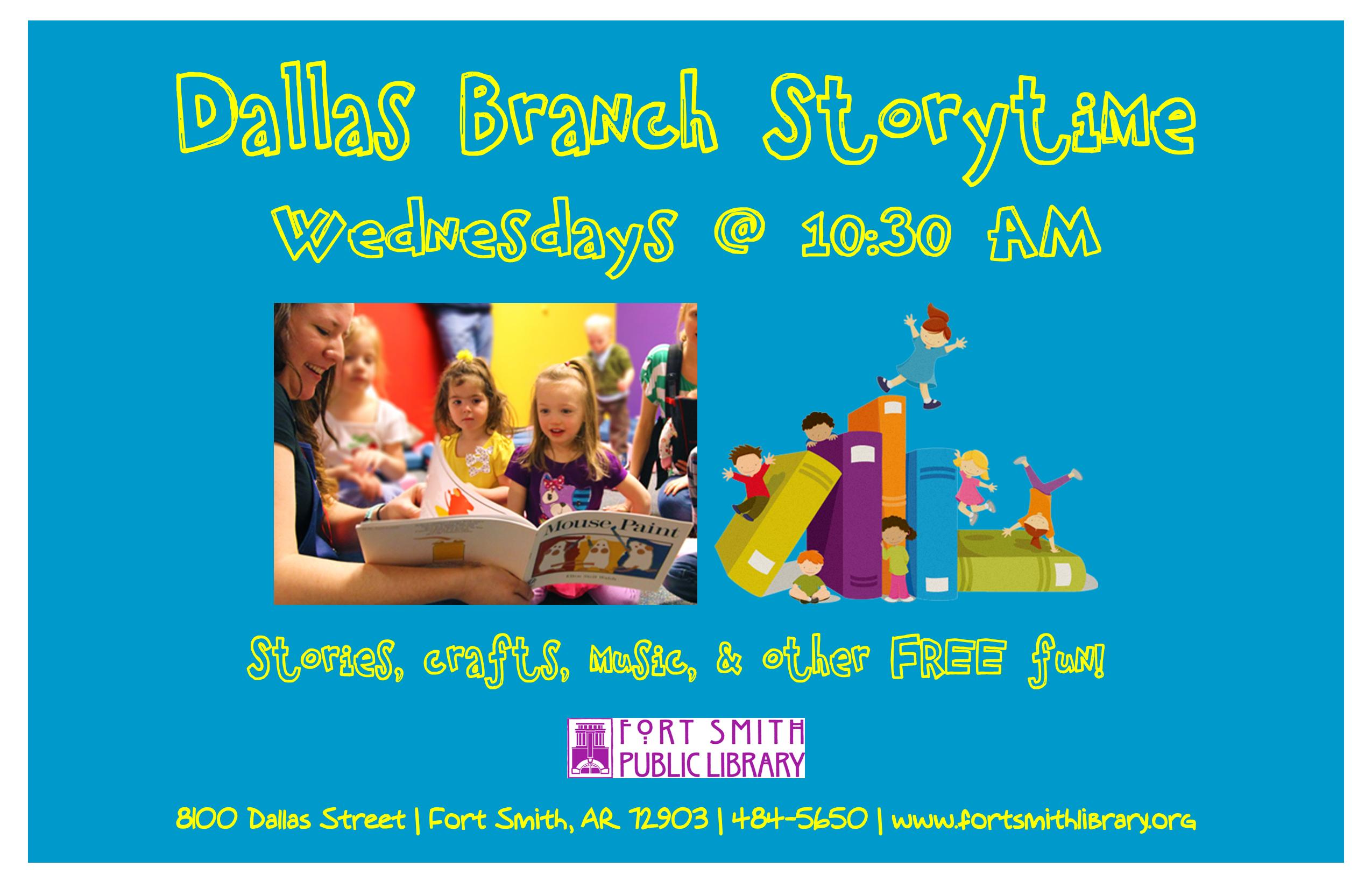 Dallas Branch Storytime poster