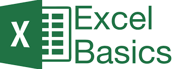 excel logo with the word excel basics