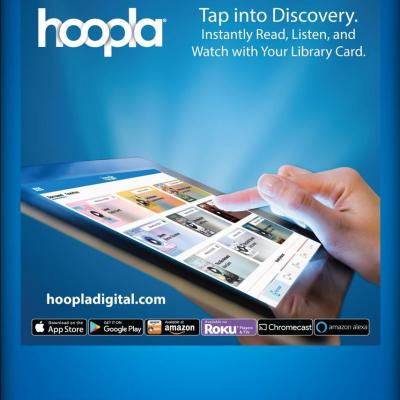 picture of hoopla service on screen