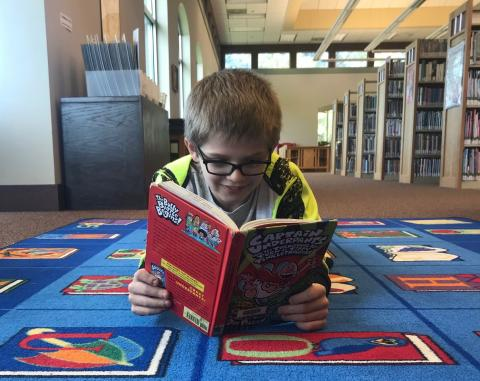 Boy who got caught reading Captain Underpants in library