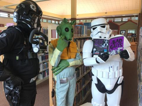 "Star Wars villains reading the book ""The Bad Guys"""