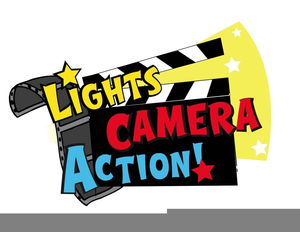 Lights, camera, action clipart