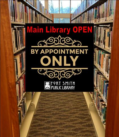 Main library open by appointment only