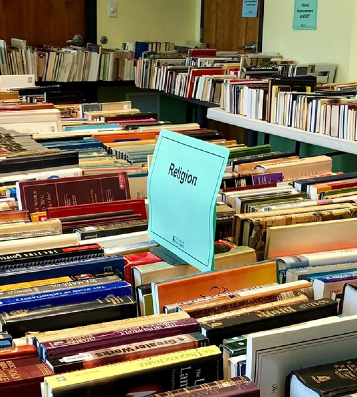 Books at the book sale