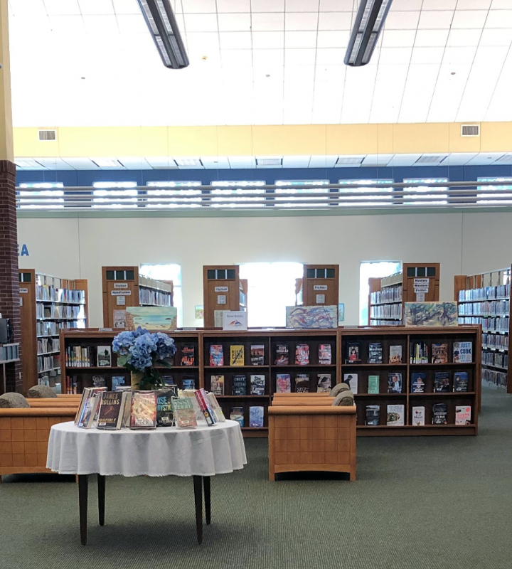 Interior of the Dallas Street Branch