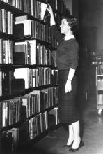 Library visitor in the 1950s